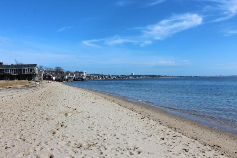 View of Provincetown Harbor from the beach