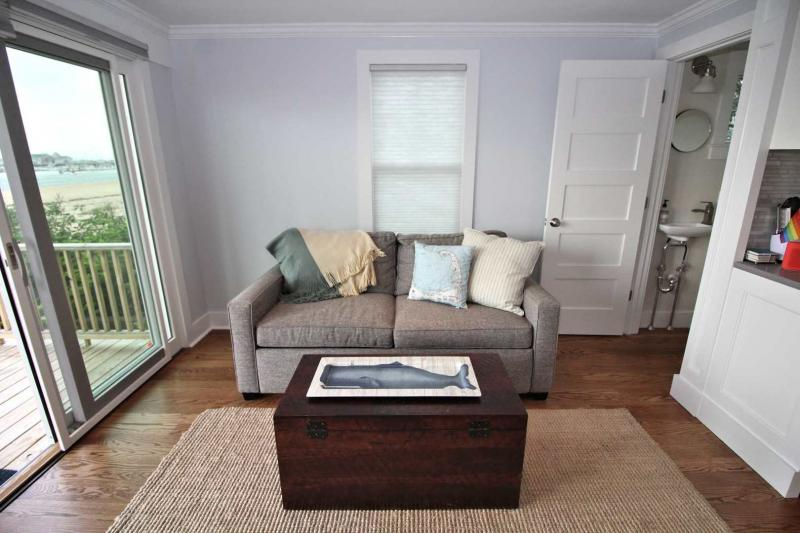 First floor with comfortable sofa and flat screen  television