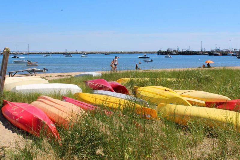 Step into the sand on Provincetown Harbor