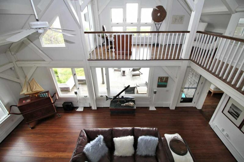 View of the living room from the second floor