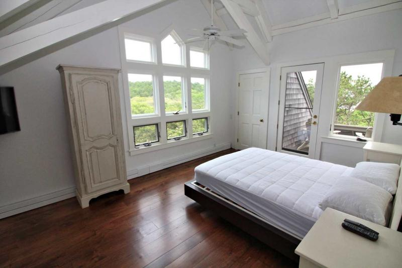 Second floor master with private balcony