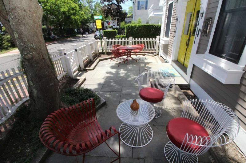 Shared patio on Commercial Street