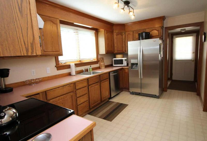 Kitchen with new stainless appliances
