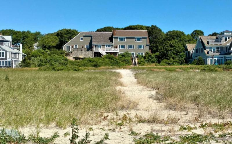 View of the house from the beach path