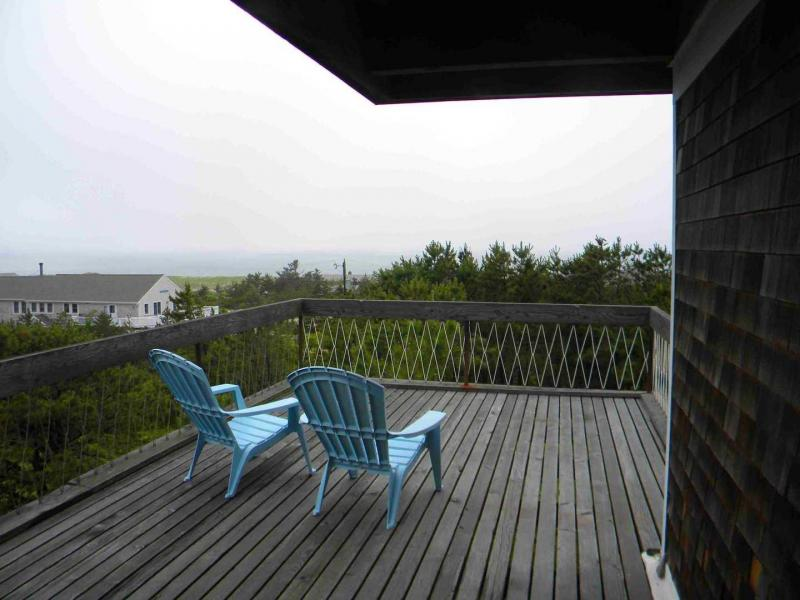 Deck with views of bay