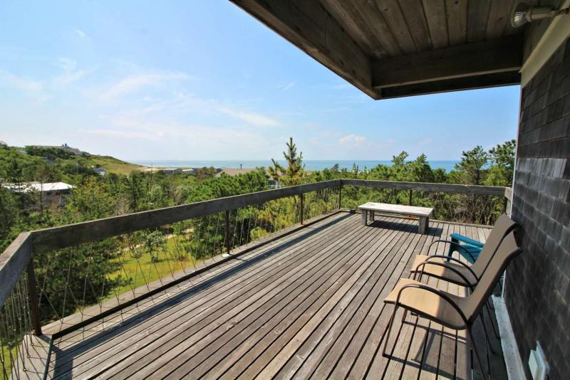 Large deck with views of Cape Cod Bay