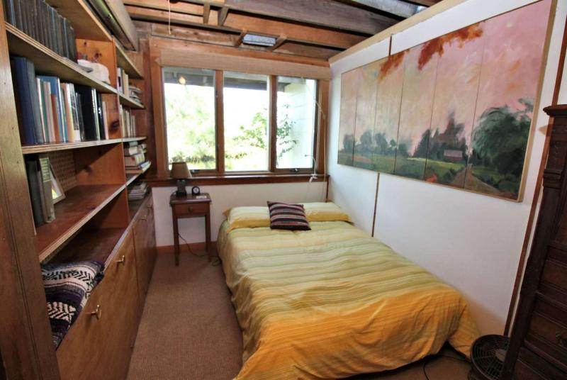 Lower level bedroom with full futon