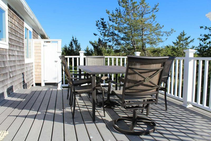 Deck perfect for dining and lounging