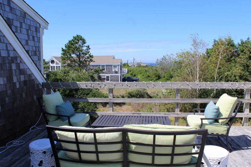 Deck with distant views of Cape Cod Bay