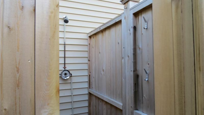 New Enclosed Outdoor Shower