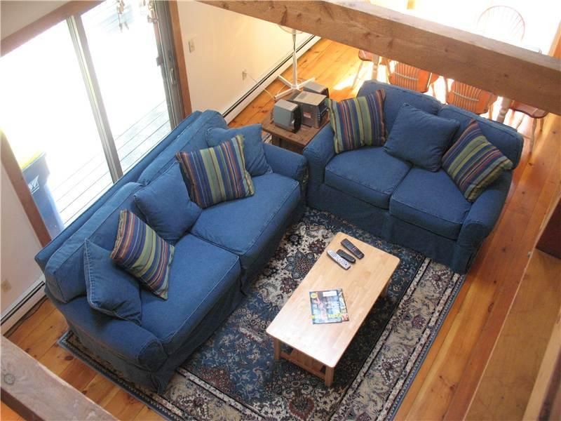 Living room as seen from second level