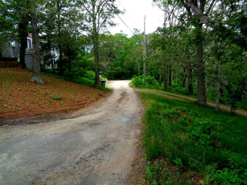 Road in front of cottage