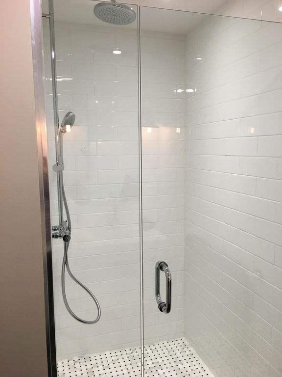 Master ensuite bathroom with walk in shower