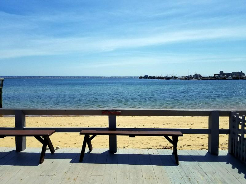 Amazing views of Provincetown Harbor from the community deck