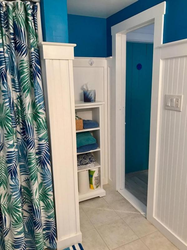 Bathroom with shower stall
