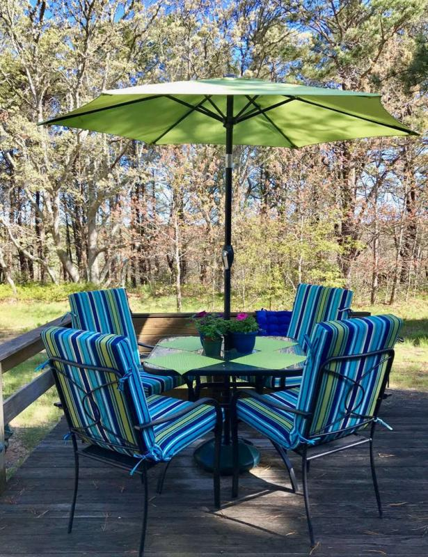 Relax on the beautiful back deck