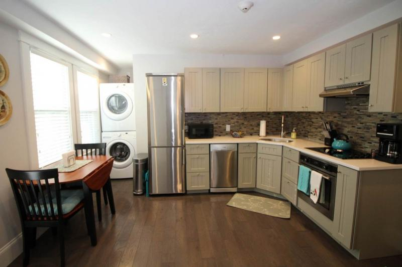 Kitchen with stainless appliances and dinette