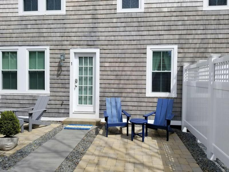 Patio space with chairs