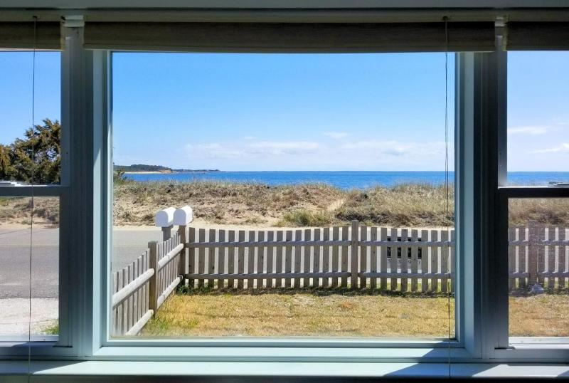 Views of Wellfleet Harbor and the bay from the living room