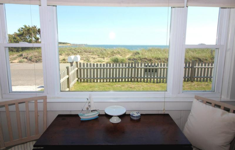 Large front window with Wellfleet Harbor views