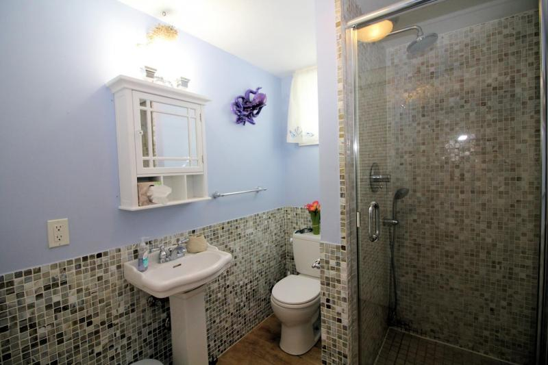 Bathroom with custom shower