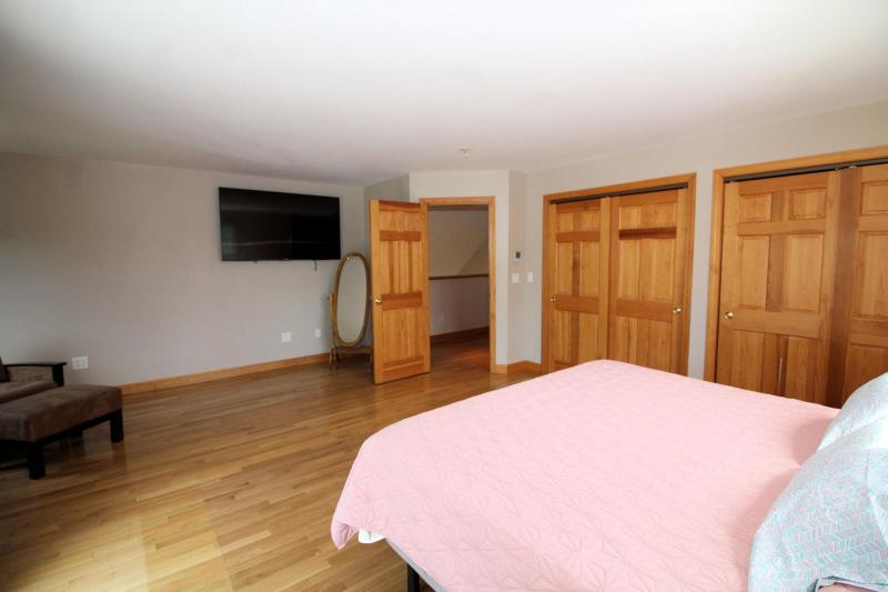 Second floor master has king bed and flat screen TV