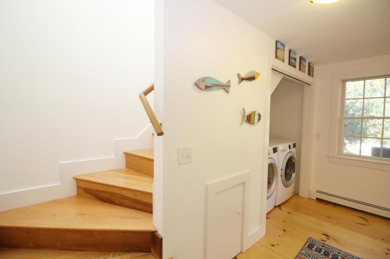 Stairs leading to second floor master
