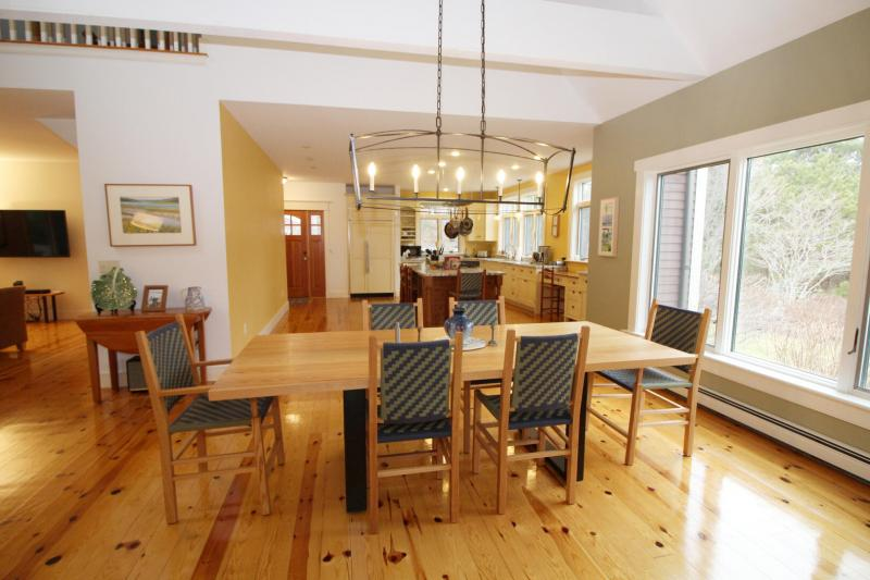 Large dining table with room for everyone