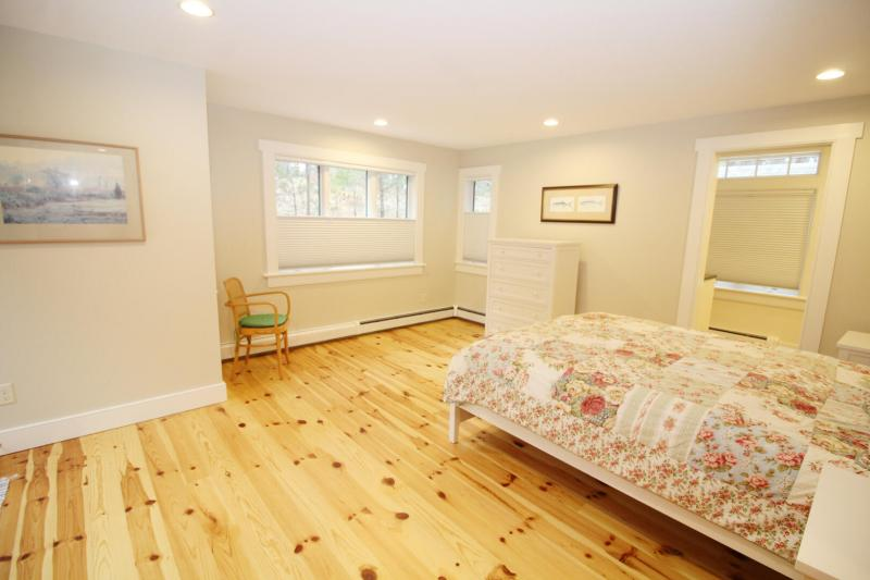 Spacious first floor bedroom with queen bed