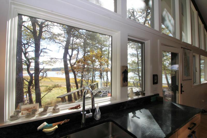 Tidal marsh views from the kitchen