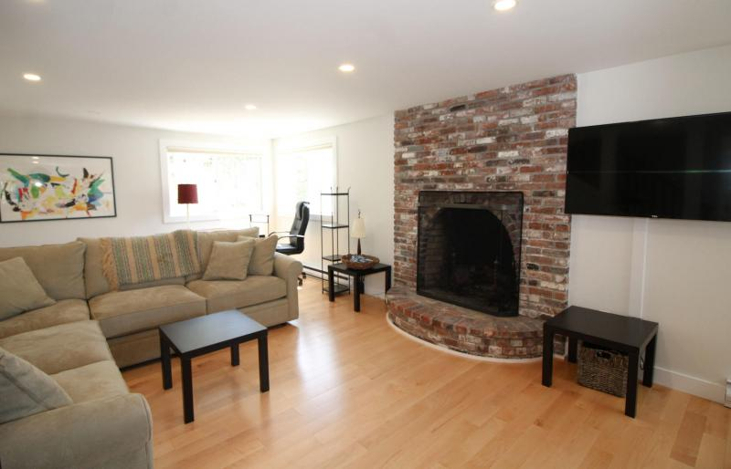 Spacious living room with comfortable sectional