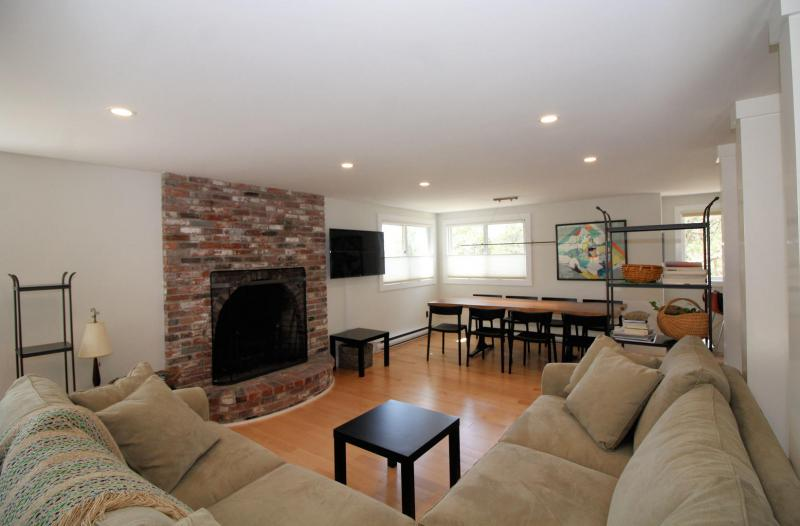 Comfortable living room with plenty of seating