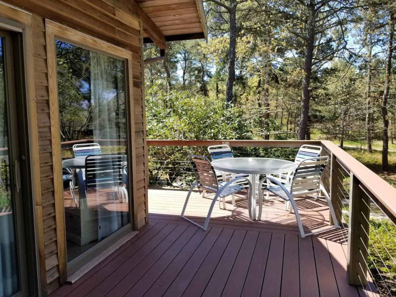 Wonderful deck with outdoor seating and gas grill