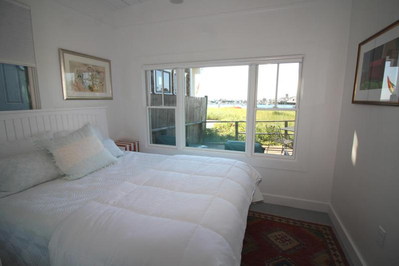 Bedroom with queen has views of Provincetown Harbor