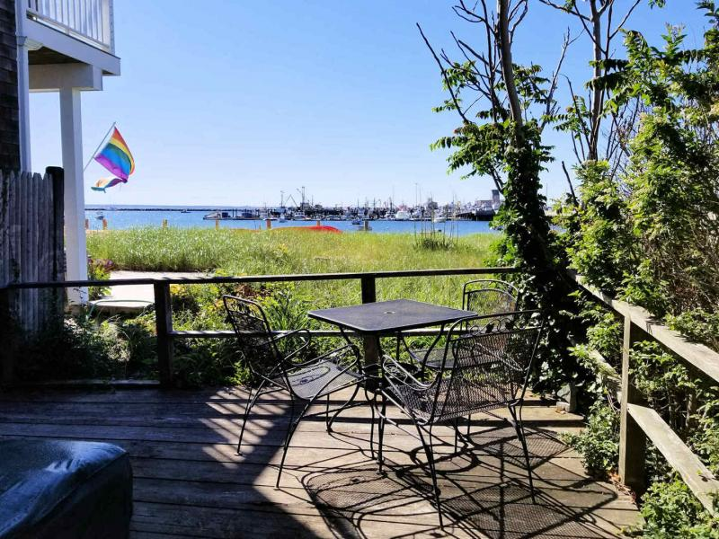 Deck with view of Provincetown Harbor