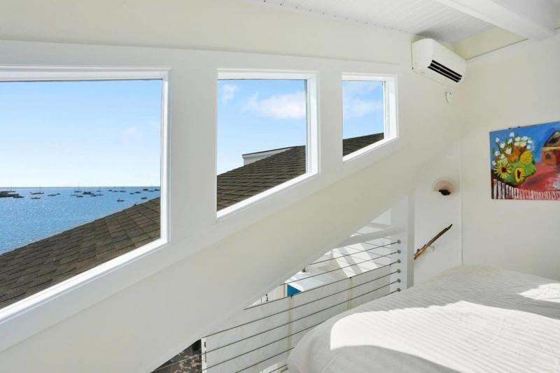Vaulted ceiling and amazing views from bedroom