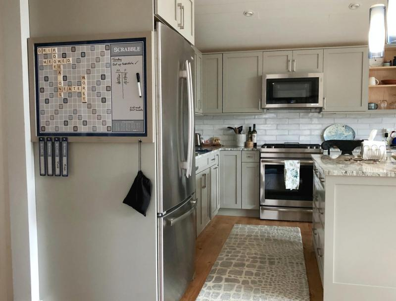 Nicely equipped kitchen with stainless appliances