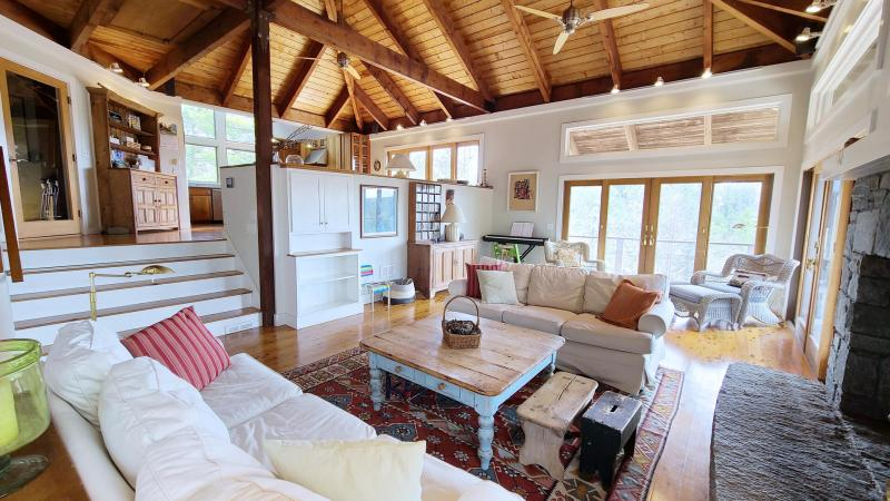 Living room with comfortable sofas
