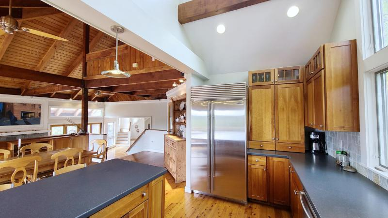 Kitchen with high end stainless appliances