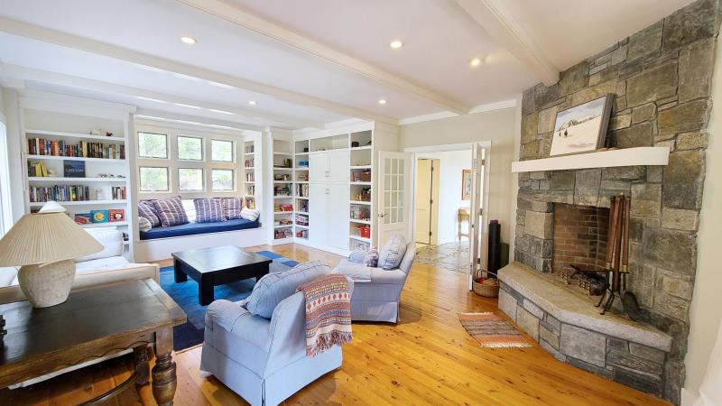 Family room with TV and comfortable furniture