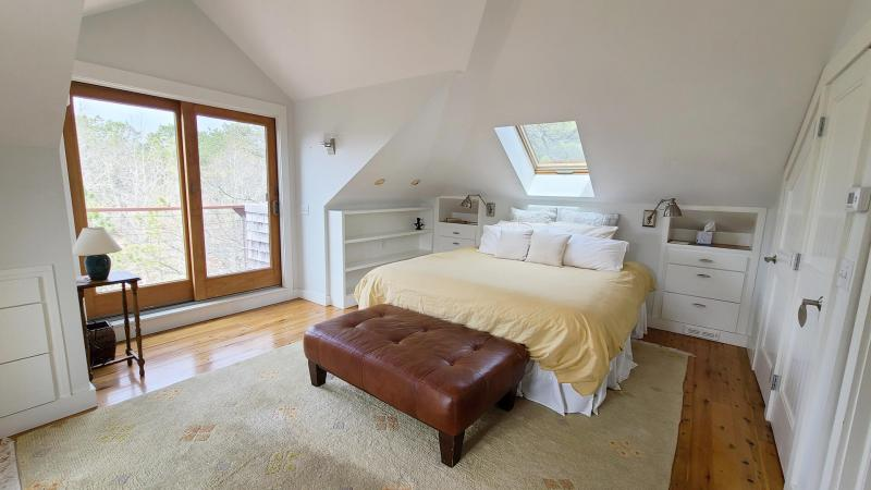 Second floor master bedroom with king bed
