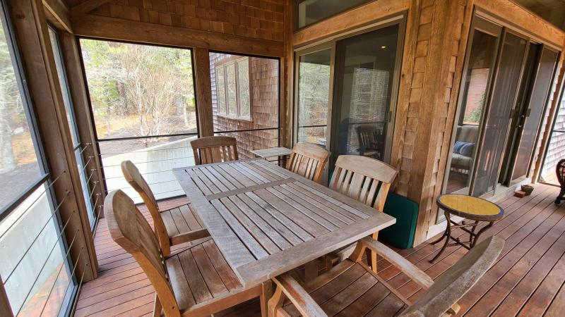 Screen porch just off family room