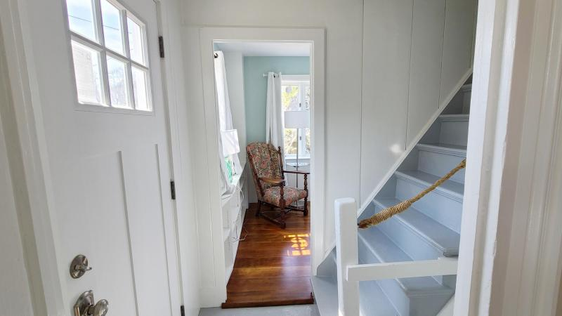 Front hall with stairs leading to second floor