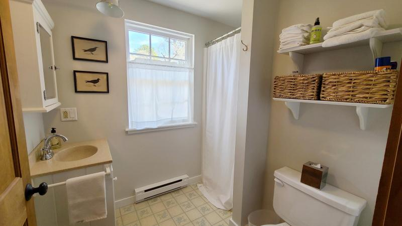First floor bathroom with stall shower