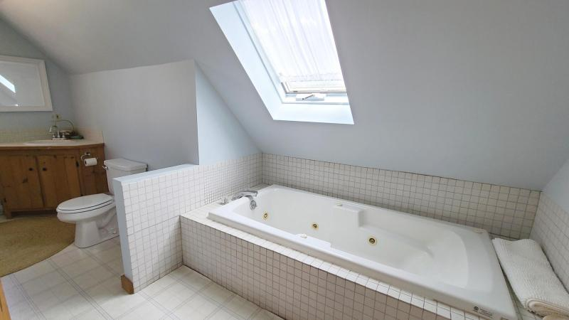Second floor bathroom with tub only