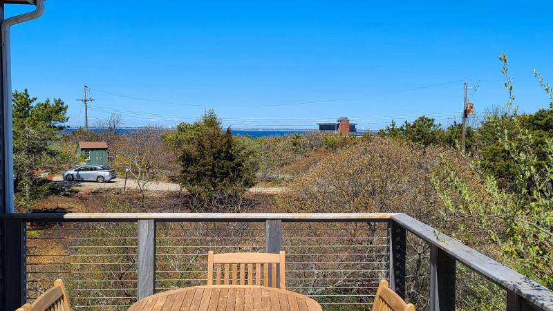 Main deck with water views of Cape Cod Bay