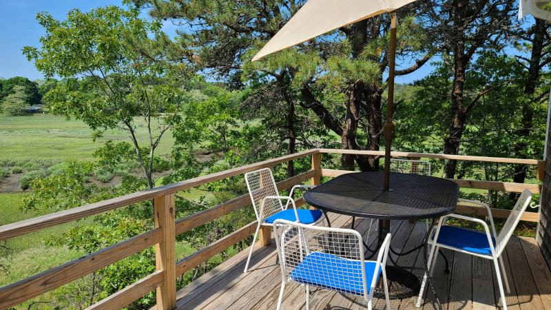 Dine out or relax with a book on the deck