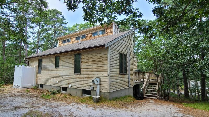 Comfortable home with large deck and outdoor shower