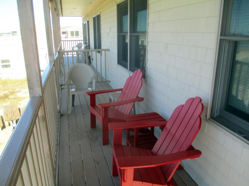 Balcony deck overlooking the beach with views to Provincetown