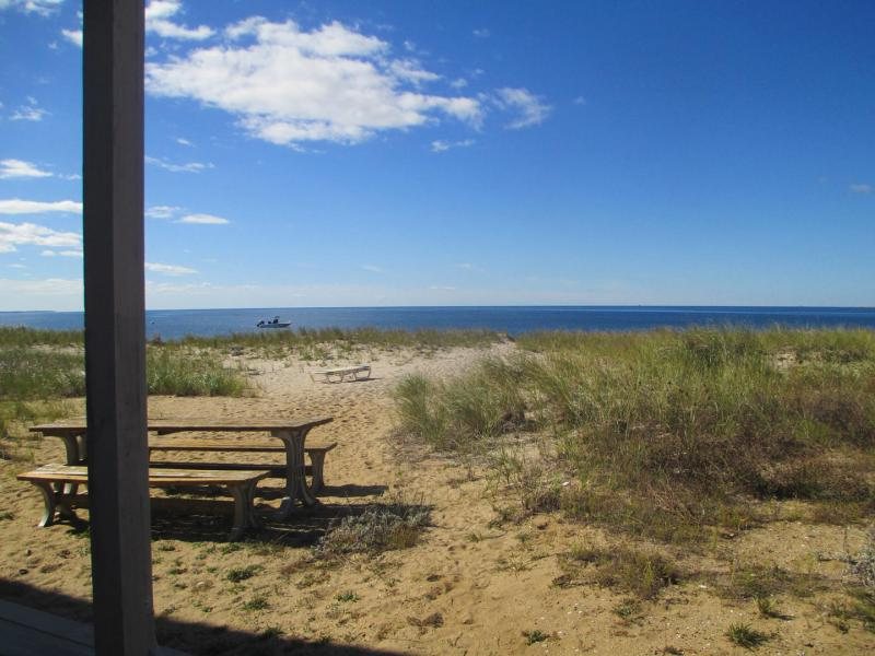 Spacious second floor condo right on Cape Cod Bay